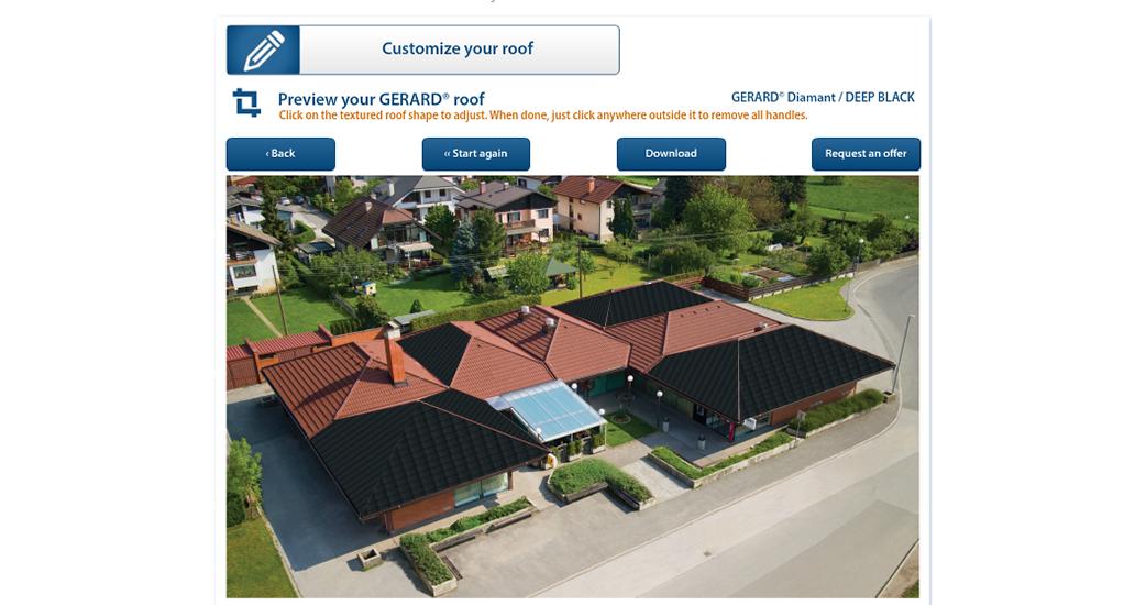 Подивіться, як виглядатиме ваш будинок з дахом GERARD